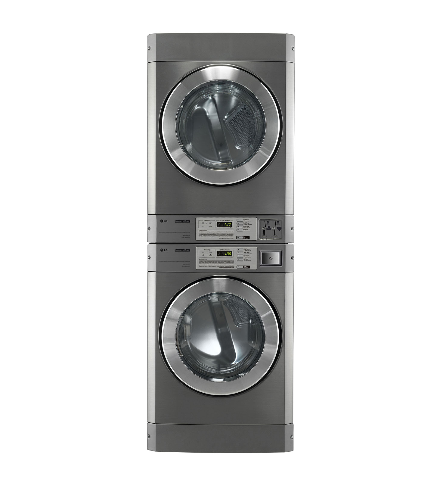 Lg Stacked Dryer Dryer Coin Operated Giant C Platinum